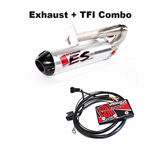 (Big Gun ECO Slip On Exhaust & TFI Power Box Combo Kit - Polaris RZR 800 - 2011-2014 40-R54H|07-7702)