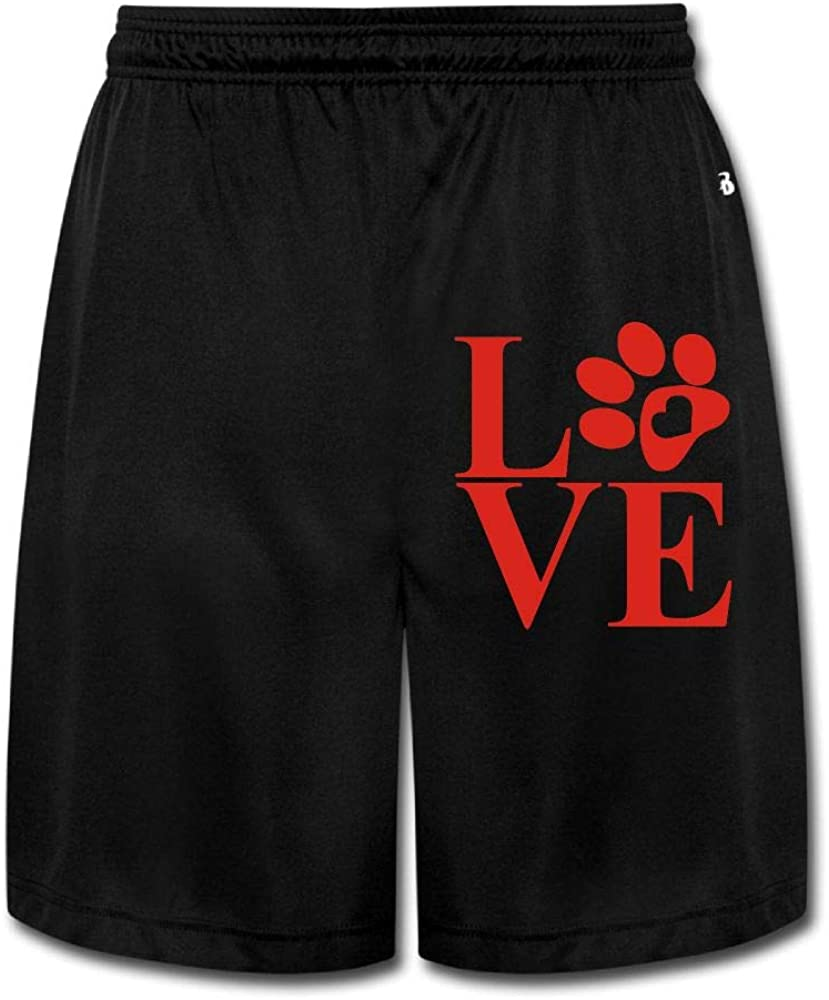 Love Paw Mens Soft Elastic Waist Training Fleece Cargo Shorts