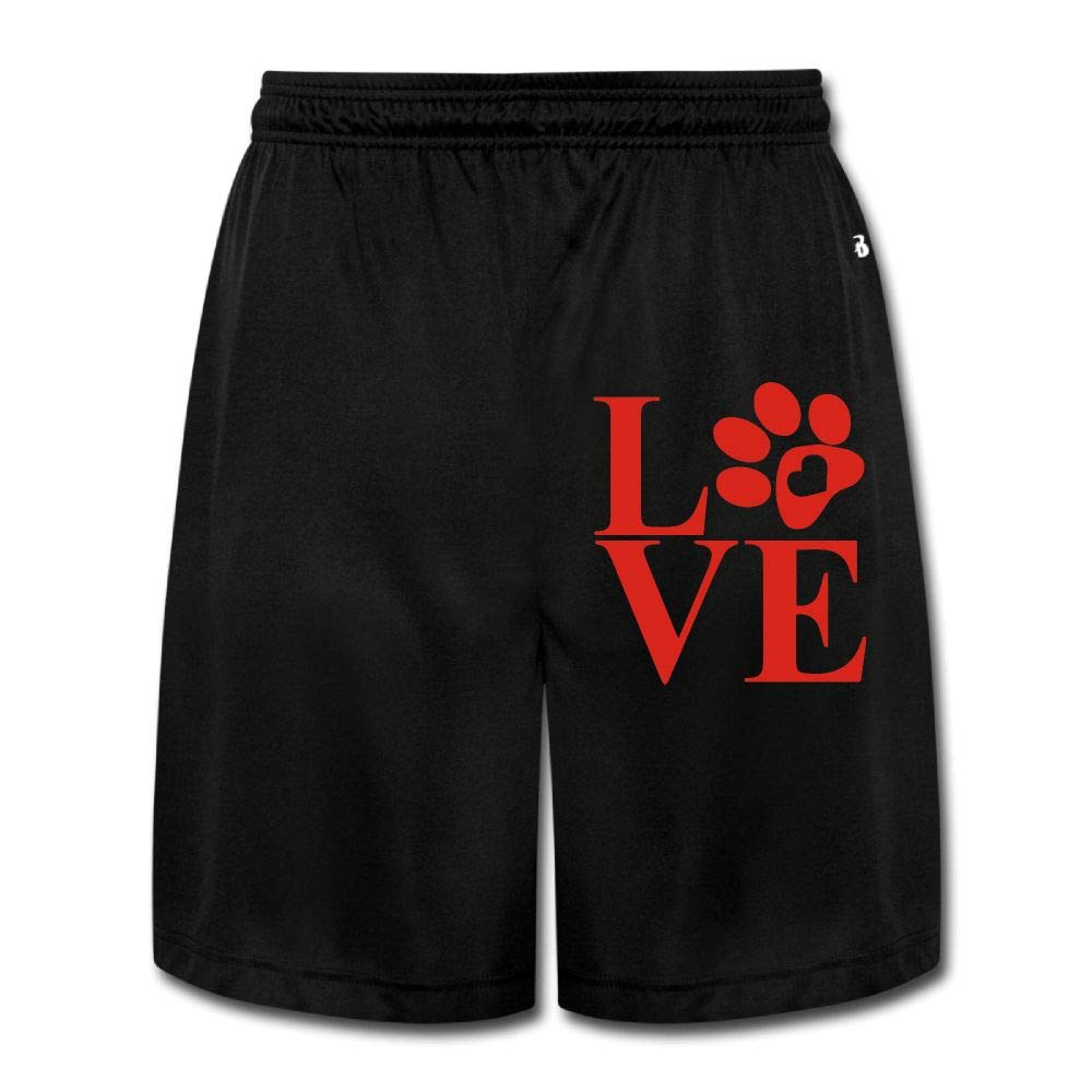 Love Paw Mens Cotton Quick-Dry Athletic Jersey Cargo Shorts