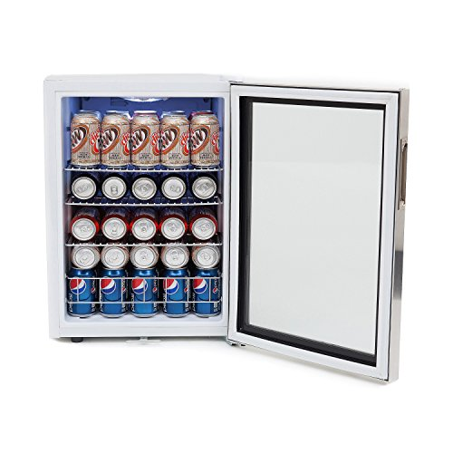 : Whynter BR-091WS Beverage Refrigerator with Lock, 90 Can Capacity, Stainless Steel