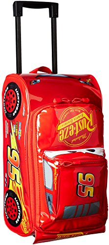 Disney Boys' Cars 3 Lightning Mcqueen Molded Rolling Luggage (School Luggage)