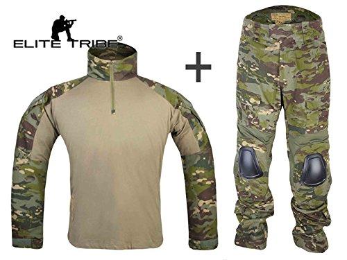 Airsoft Military BDU Tactical Suit Combat Gen3 Uniform Shirt Pants Multicam Tropic (L)