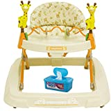 Baby Trend Baby Activity Walker with Toys, Kiku with BONUS Hypoallergenic, Unscented Baby Wipes, 128 Count