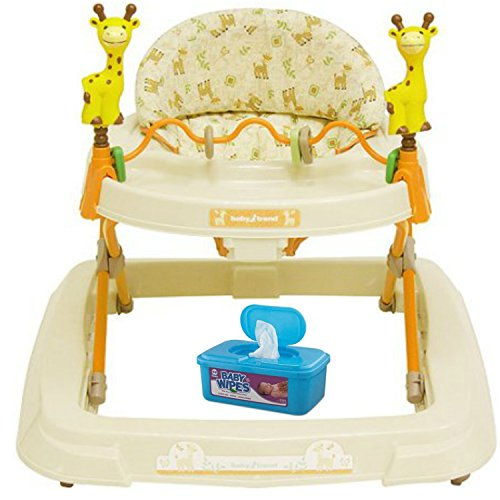 Baby Trend Baby Activity Walker with Toys, Kiku with BONUS Hypoallergenic, Unscented Baby Wipes, 128 Count (Sofa Kirklands Tables)