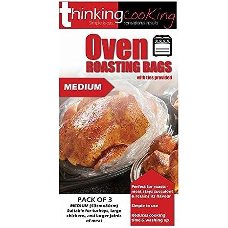 Polvo Horno Roasting bolsas con lazos Medio 2 por paquete ...