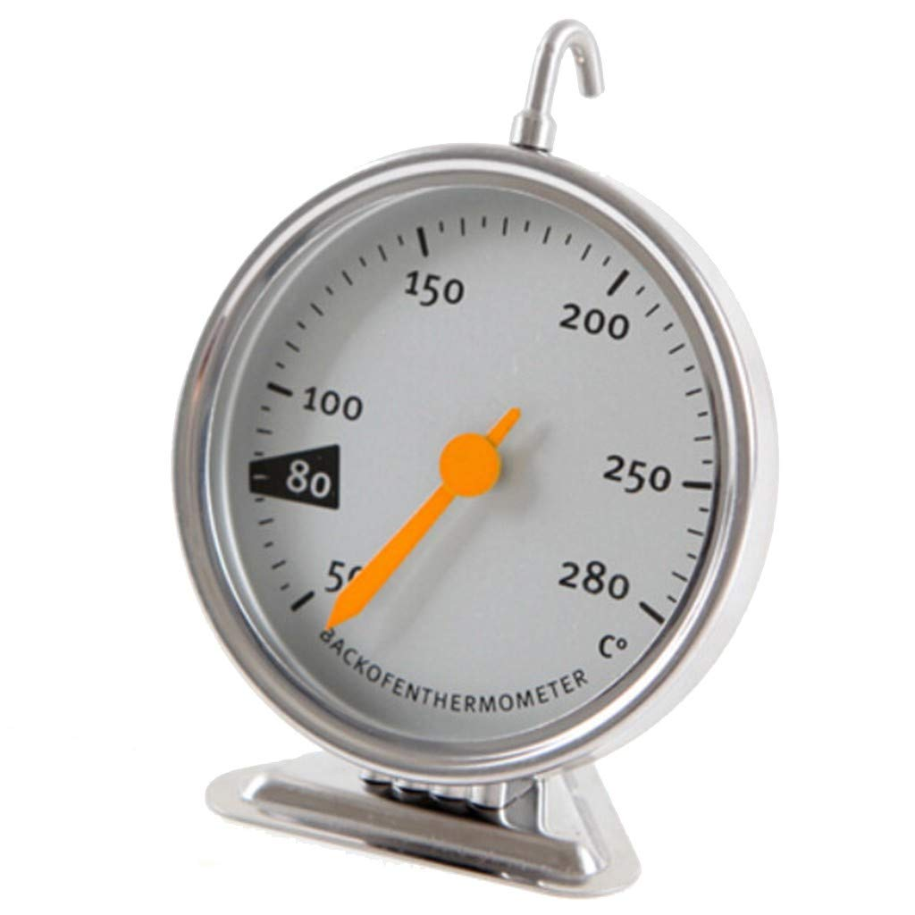 Littleice Oven Thermometer Food Meat Temperature Stand Up Dial Oven Thermometer Stainless Steel Gauge
