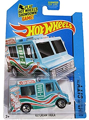 Hot Wheels - 2014 HW City 9/250 - HW City Works - Ice Cream Truck (blue)