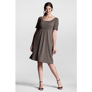 Lands\' End Women\'s Plus Size Half Sleeve Cotton Modal Ruched Neck ...