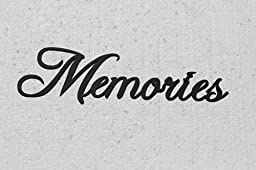 Memories Word Home Decor Metal Wall Art