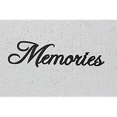 Memories Word Home Decor Metal Wall Art