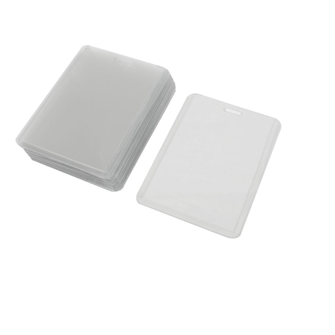 Uxcell Plastic Vertical Business Working Id Badge Card Holders Clear 20 Pieces