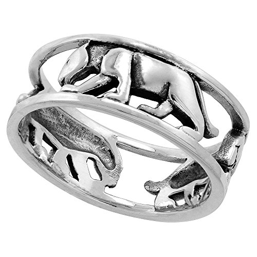 (Sterling Silver Panther Ring for Women 1/4 inch size 8)