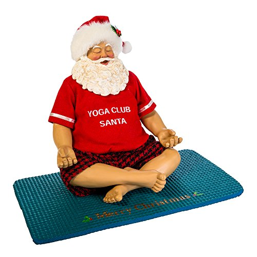 Kurt S. Adler 7 Santa Sitting on Yoga Mat Figure