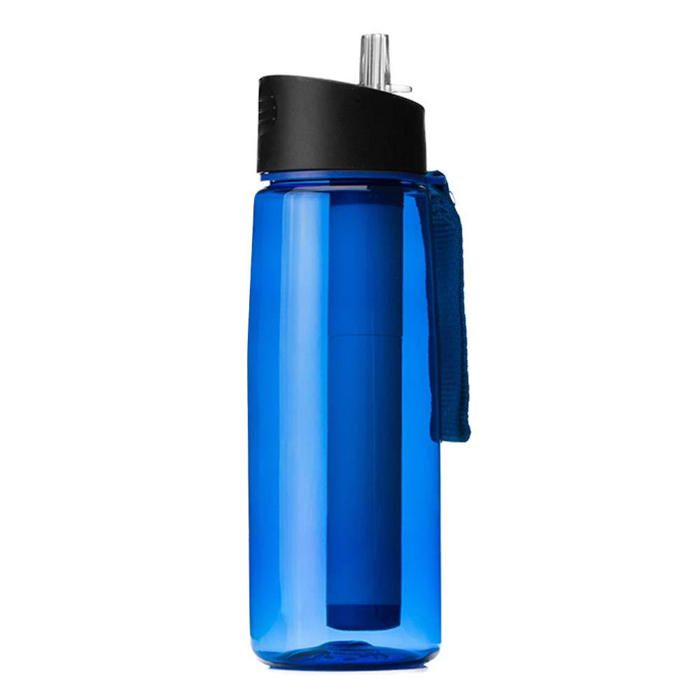 Explopur Filtro de La Botella de Agua Botella de Agua Filtro de Repuesto Purificador de Filtraci/ón de Agua para Acampar de Emergencia al Aire Libre Senderismo Viajar