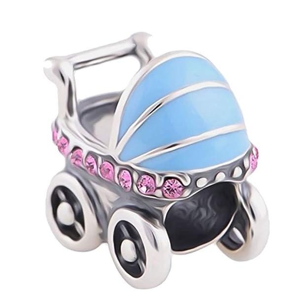 landau-bébés transporte Charm pulsera de abalorios de plata de ley 925 perlas: LSDesigns: Amazon.es: Joyería