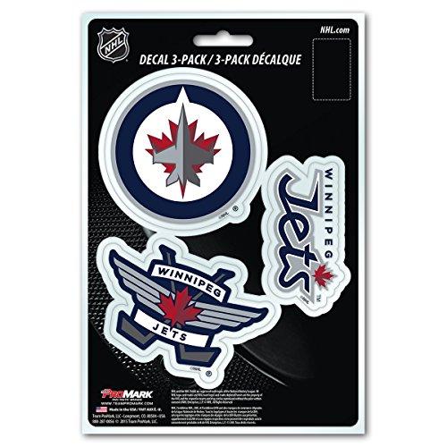 NHL Winnipeg Jets Team Decal, 3-Pack