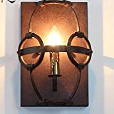 JIN Antique Wall Lamp Nostalgic Personality Retro Industrial Wind Iron Lamp American Cafe Bar Wall Lamp , LED , Single Head