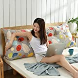Tatami Headboard Cushion,Triangular Wedge Reading backrest Cushion,Large Big Washable Bedside Back Cushions,Three-Dimensional Sofa backrest,Pearl Cotton-D 1202050cm