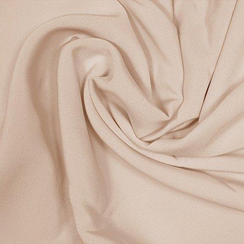 4 Ply Silk Fabric - Silk Stretch 4 Ply Crepe Khaki Fabric