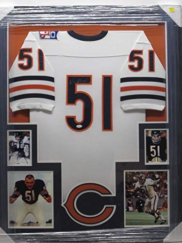 Dick Butkus Autographed Signed Chicago Bears Jersey Framed with Photos Memorabilia JSA ()