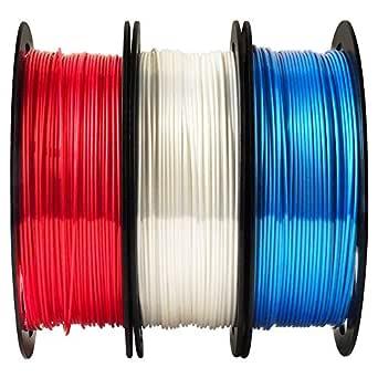 Paquete de filamento PLA para impresora 3D de color blanco rubí ...