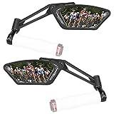 Venzo - Juego de Espejos para manubrio de Bicicleta (75% Vidrio antirreflectante, visión Trasera Izquierda o Derecha, 2 Unidades)