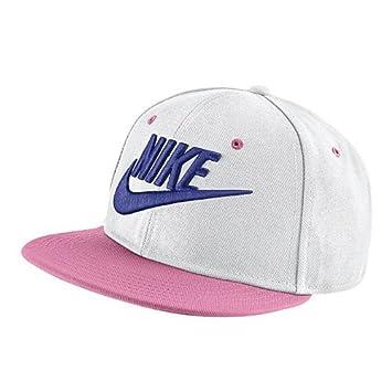 Nike Y True Futura Gorro, Unisex niños, Blanco/Tiza Coral/Negro/Violeta enérgico, Talla Única: Amazon.es: Deportes y aire libre