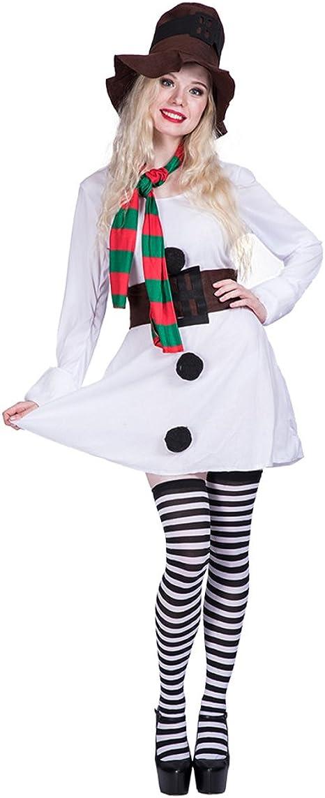 EraSpooky Miss Muñeco de Nieve Disfraz para Mujer Navidad: Amazon ...