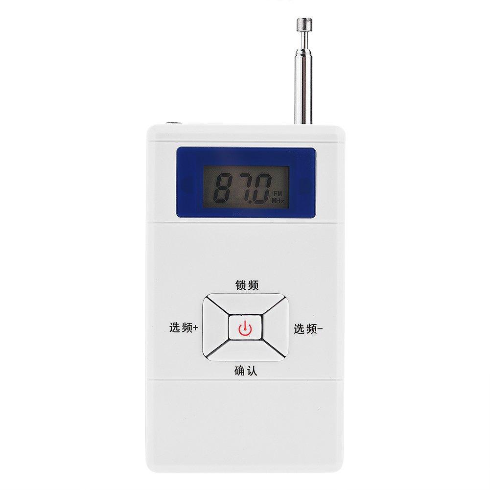 VBESTLIFE Mini Émetteur FM Transmetteur Stéréo FM sans Fil Transmetteur Portatif de 70MHz ~ 108MHz Adaptée à la Maison, à la Voiture, aux Salles de Classe etc à la Voiture