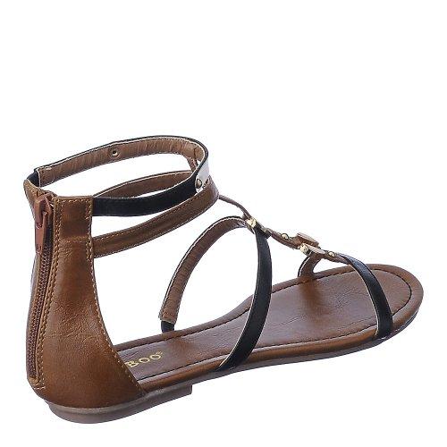 Bamboevrouw Pable-01 Sandaal Zwart