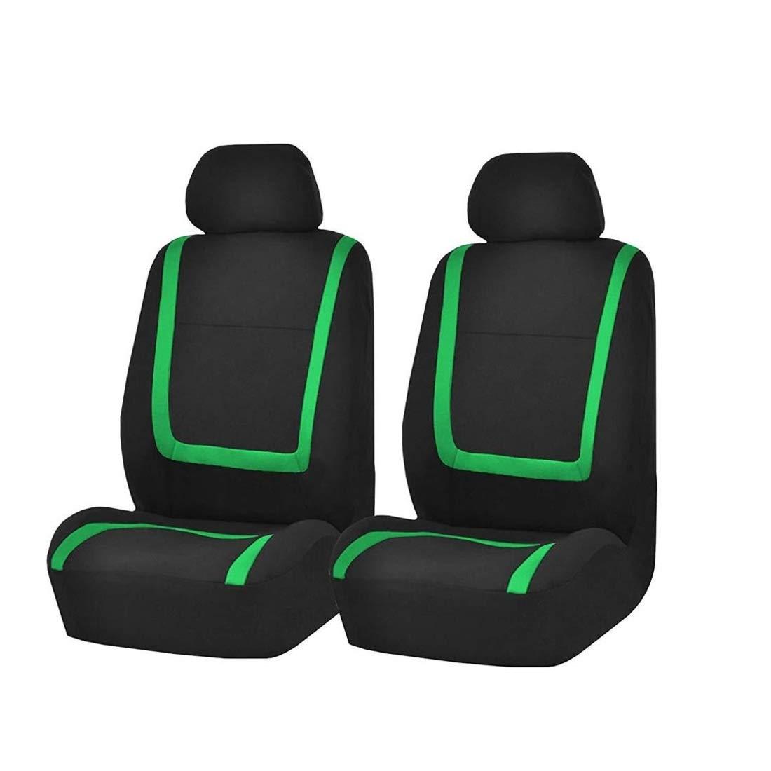 camionetas Camiones y Furgonetas Uzanesx Funda de Asiento de autom/óvil Universal 2 Cubiertas de Asiento Delanteras Se Ajustan a la mayor/ía de los autom/óviles Color : Green
