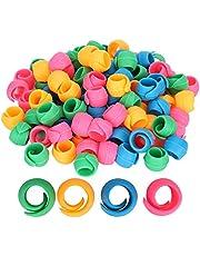 100-delige draadspoelknuffelaars, siliconen spoelhouderclip om te voorkomen dat de draad afwikkelt en om de draadstaart onder controle te houden