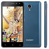 Xgody 4G Unlocked Cell Phones X200 Pro 5 Inch Android 6.0 8GB ROM Quad-Core 8MP 720 x 1280 Pixels HD Screen Camera Wifi Dual Sim Smartphones Royal Blue