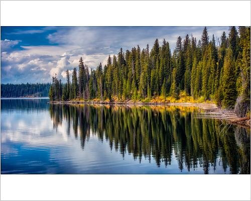 Media Storehouse 10x8 Print of Jenny Lake reflections, Grand Teton National Park - Jenny Grand Lake