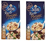 Scotti: ''Risotto Porcino di Stagione'' Rice with Porcini Mushrooms 7.4 Ounce (210gr) Package Pack of 2 [ Italian Import ]