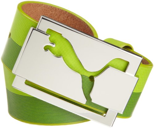 Puma Golf Men's High Shine Belt (Lime Punch Graphic, 30 Small)