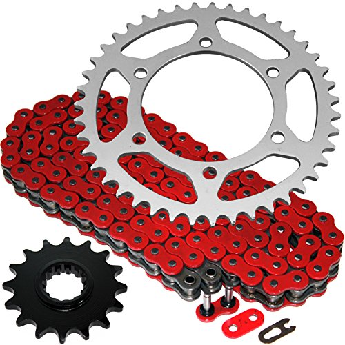 Caltric Red O-Ring Drive Chain & Sprockets Kit Fits YAMAHA R1 YZFR1 YZF-R1 1998-2003