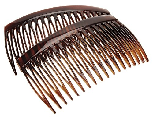 France Luxe 18 Tooth French Side Comb Pair - (French Shimmer)