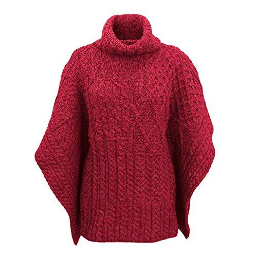 Carraig Donn 100% Irish Merino Wool Patchwork Aran Cowl Cape. by The Irish Store - Irish Gifts from Ireland