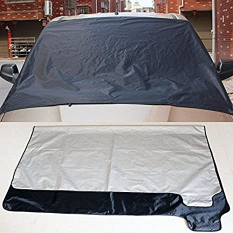 Coche cubierta de nieve - Parabrisas la cubierta de nieve para automóviles - Protege parabrisas limpiaparabrisas y de nieve, hielo, y Frost Build Up: ...