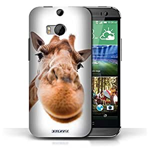 KOBALT? Protective Hard Back Phone Case / Cover for HTC One/1 M8 | Closeup Giraffe Design | Funny Animals Collection
