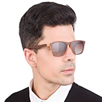 LianSan Retro Wayfarer Sunglasses Polarized Driving Shades for Men Women 7111