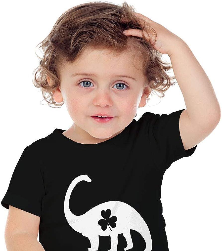 Patricks Day Gift Toddler//Infant Kids T-Shirt Irish Dinosaur Clover St