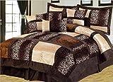 Empire Home Twin Size Kids Brown Beige Safari 5-PC Comforter Set