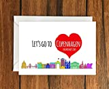 Lets Go To Copenhagen For Mothers Day greeting card A6