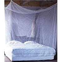 Shahji Creation Double Bed Mosquito Net With Cotton Border, 6X6.5 Feet (Purple Color)