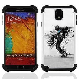 For Samsung Galaxy Note3 N9000 N9008V N9009 - Nature Protection Ecological Distruction Art /[Hybrid 3 en 1 Impacto resistente a prueba de golpes de protecci????n] de silicona y pl????stico Def/ - Super M