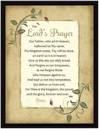 Amazon.com: Dexsa Lord's Prayer Wood Frame Plaque with Easel 6.5 ...