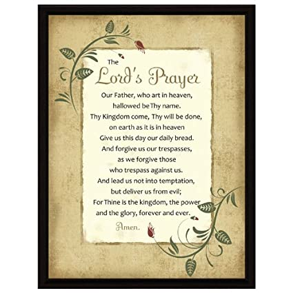 059a72561375c Amazon.com: Dexsa Lord's Prayer Wood Frame Plaque with Easel 6.5 inches x  8.5 inches: Home & Kitchen