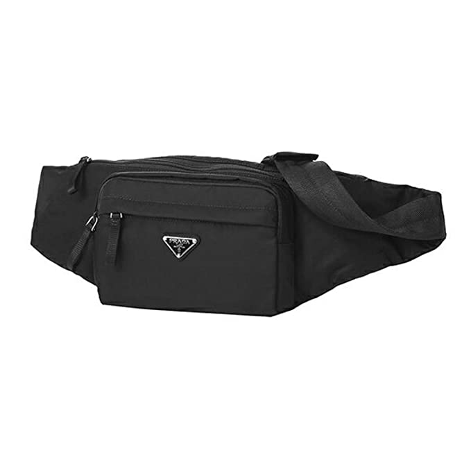 8ed442c1a62a9f Amazon.com | Prada Unisex Marsupio Belt Waist Bag Black Nylon Tessuto Fanny  Pack 2VL005 | Waist Packs